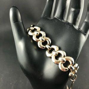 Vintage Monet gold tone link bracelet